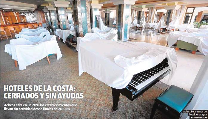 HOTELES DE LA COSTA: CERRADOS Y SIN AYUDAS
