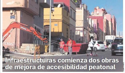 INFRAESTRUCTURAS COMIENZA DOS OBRAS DE MEJORA DE ACCESIBILIDAD PEATONAL